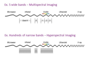 difference between multispectral and hyperspectral imaging