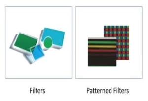pixelteq filters and patterned filters