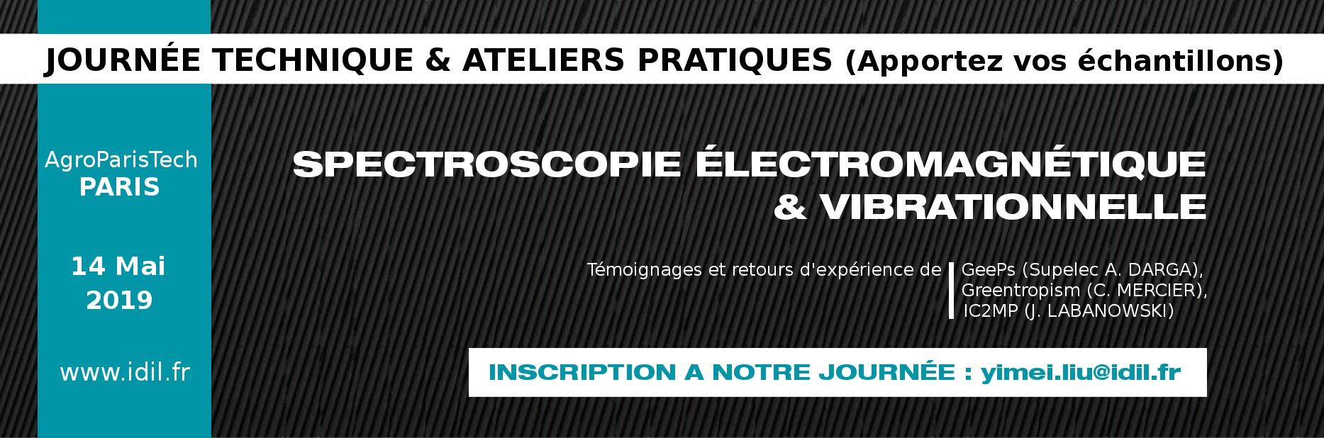 journée technique et ateliers pratiques spectroscopie électromagnétique et vibrationnelle
