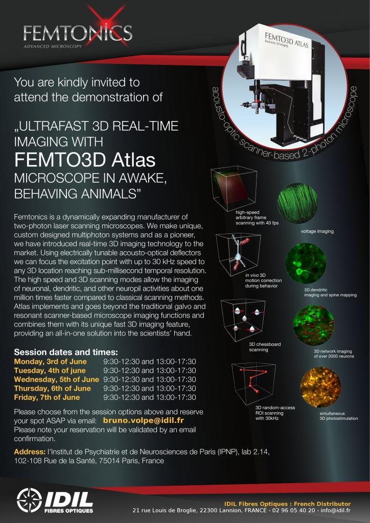 FEMTO3D Atlas Microscope - Demonstration in Paris