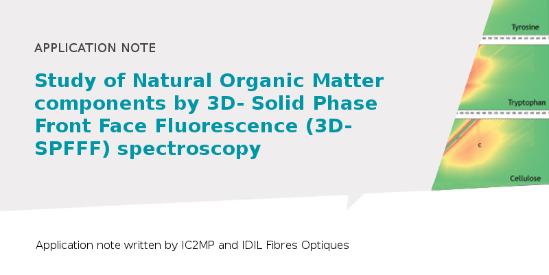 study of NOM components by 3D-SPFFF spectroscopy
