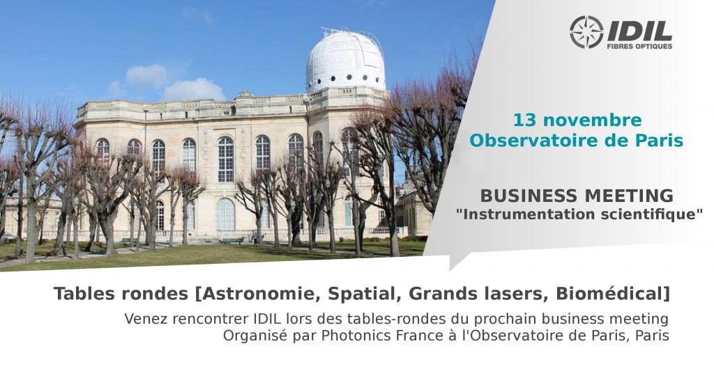 Business meeting Instrumentation scientifique par Photonics France -13 novembre 2019